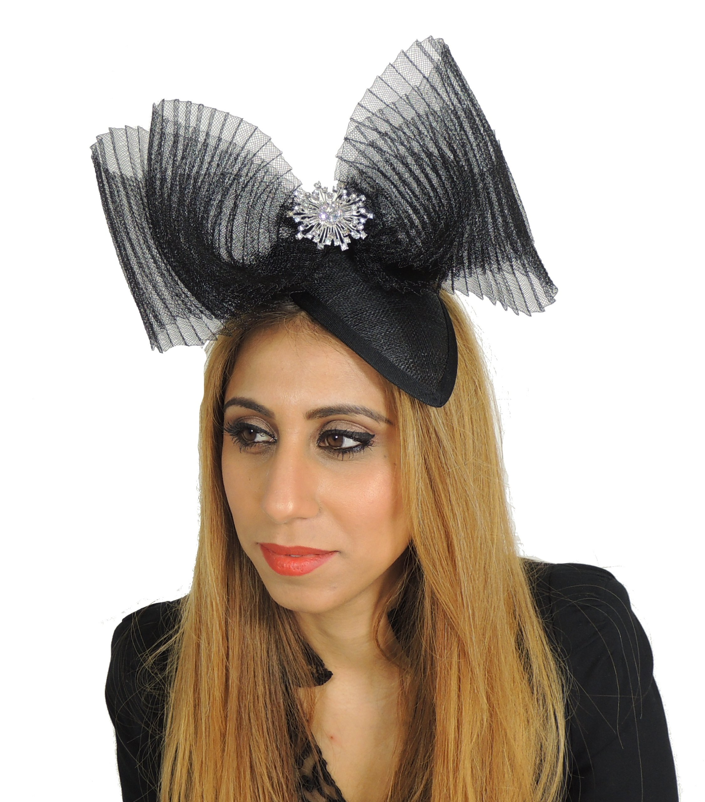 Hats By Cressida Ladies Wedding Races Ascot Derby Fascinator Headband Black