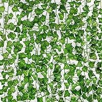 COCOBOO 16 unidades de 115 pies de hiedra falsa para decoración del hogar, cocina, pared, dormitorio, jardín, boda…