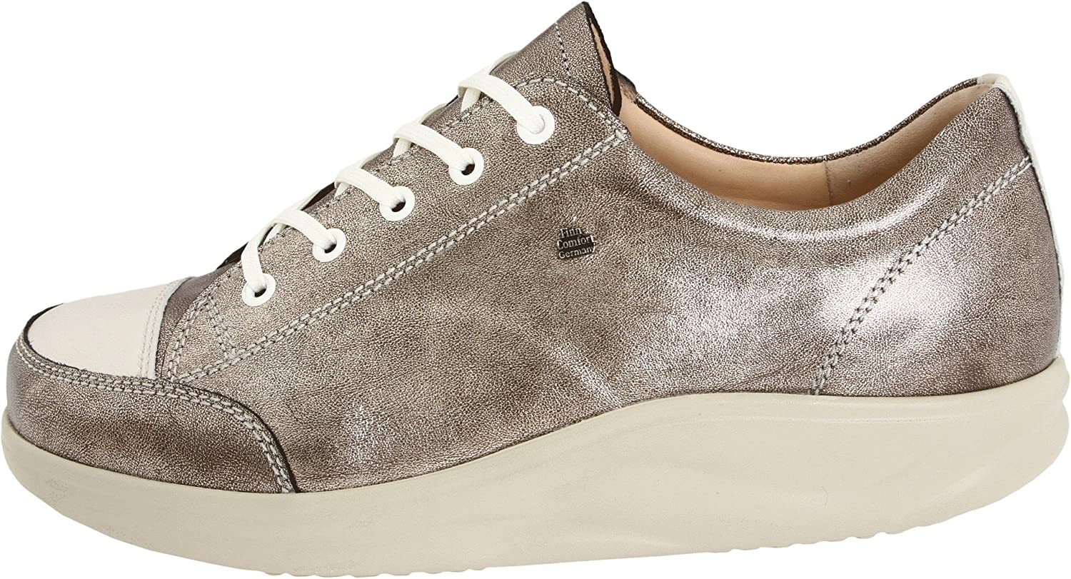 Finn Comfort Women's Ikebukuro Oxford B004VQ3RI6 2.5 UK (5 M(B) US Women's)|Espresso Metal Leather/Jasmin Okapi Leather