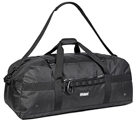 2a7ddf6e4939 Fitdom Heavy Duty Extra Large Sports Gym Equipment Travel Duffel Bag  W Adjustable Shoulder   Compression Straps. Perfect for Team Coaches   Best  for Soccer ...