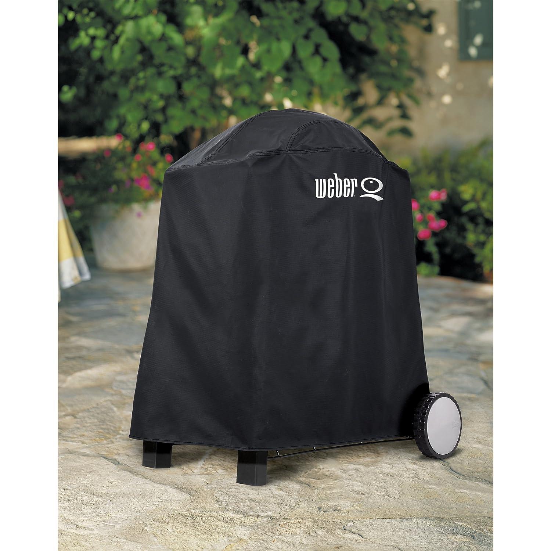 Amazon.com : Weber 6552 Premium Grill Cover, Fits Weber Q, Q-200 ...