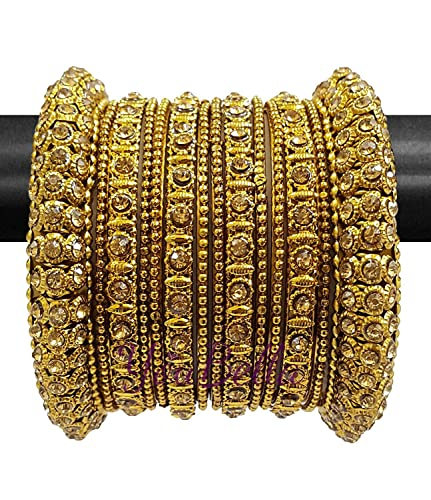 9982a70475aad YouBella Traditional Gold Plated Bracelet Bangle for Women(2.4)  Amazon.in   Jewellery