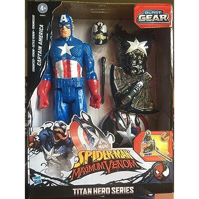 Marvel Spiderman Maximum Venom Captain America: Toys & Games