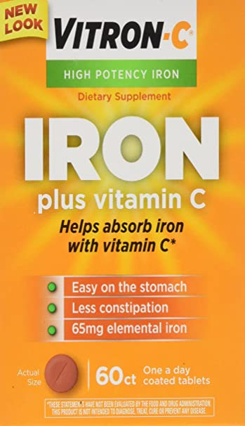 Amazon.com: Vitron-C High Potency Iron Supplement with Vitamin C ...
