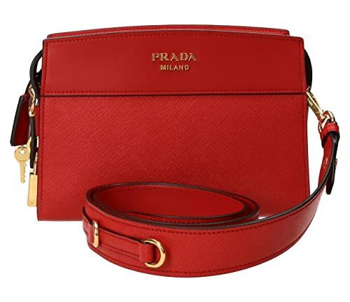be291aefa21124 Prada Women's Esplanade Saffiano Leather Handbag Red: Amazon.ca: Shoes &  Handbags