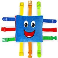Buckle Toy - Boomer Square - Learning Activity Toy - Develop Motor Skills and Problem Solving - Easy Travel Toy