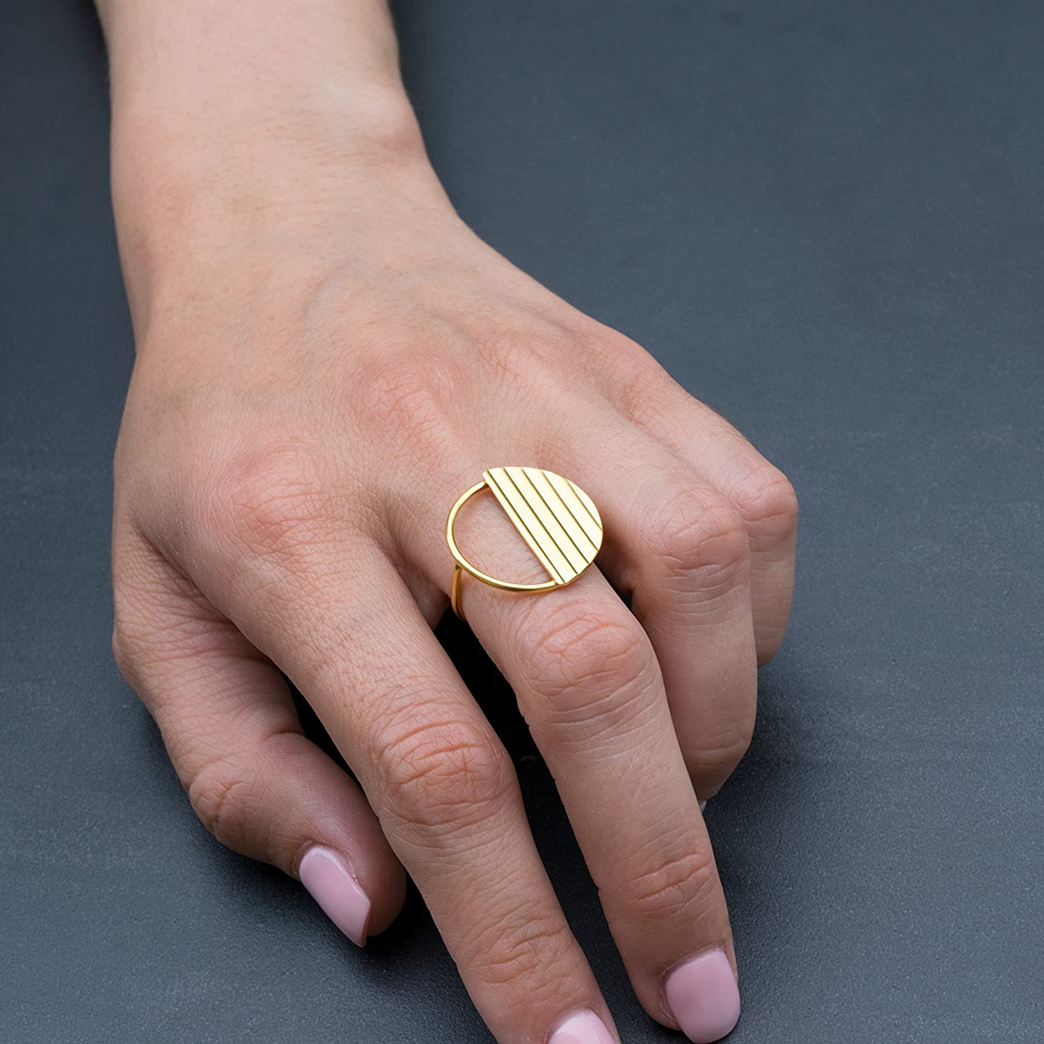 Geometric silver ring Statement silver ring Minimalist sterling silver ring Women ring