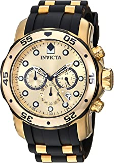 Invicta Mens 17885 Pro Diver Ion-Plated Stainless Steel Watch with Polyurethane Band