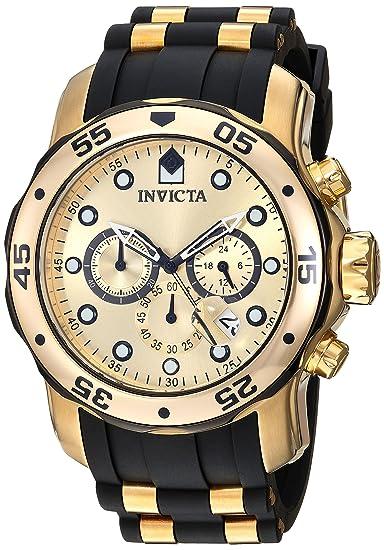 Invicta 17885 Pro Diver - Scuba Reloj para Hombre acero inoxidable Cuarzo Esfera oro: Invicta: Amazon.es: Relojes
