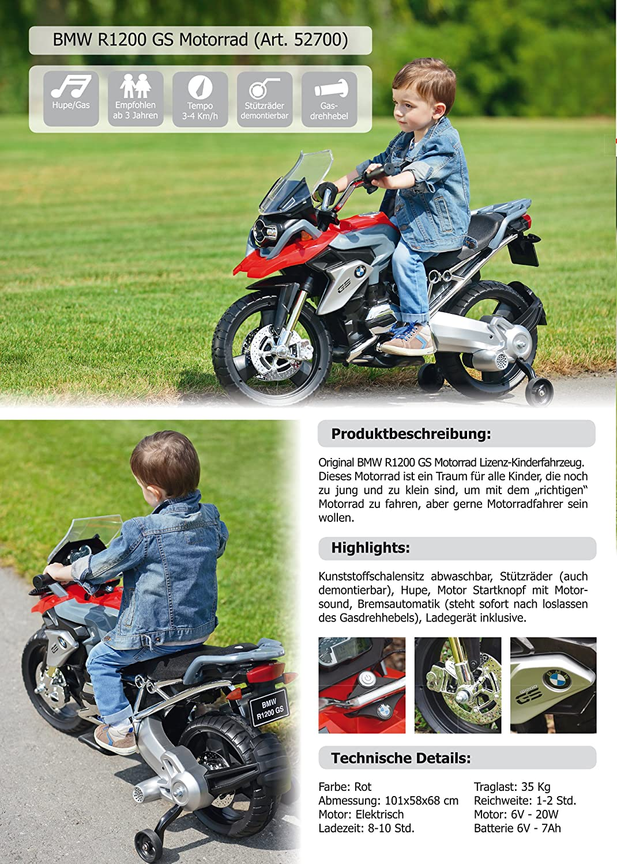 BMW R1200 GS Motorrad Kinder Elektro elektrisches Kindermotorrad ...
