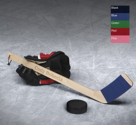 Amazon.com  Personalized Hat Trick Mini Hockey Stick  Toys   Games 843259c8d21