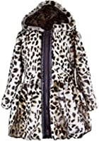 Widgeon Big Girls' Button Front Faux Fur Coat