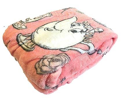Manta cobertora para la cama de La Bella y la Bestia., polar, Rosa