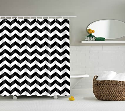 DOTZ Chevron Shower Curtain