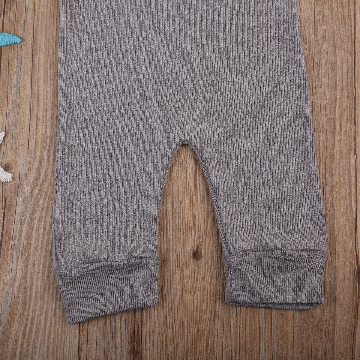 Imcute Baby Boys Girls Strap Grey Kintted Sweater Romper Jumpsuit Outfit
