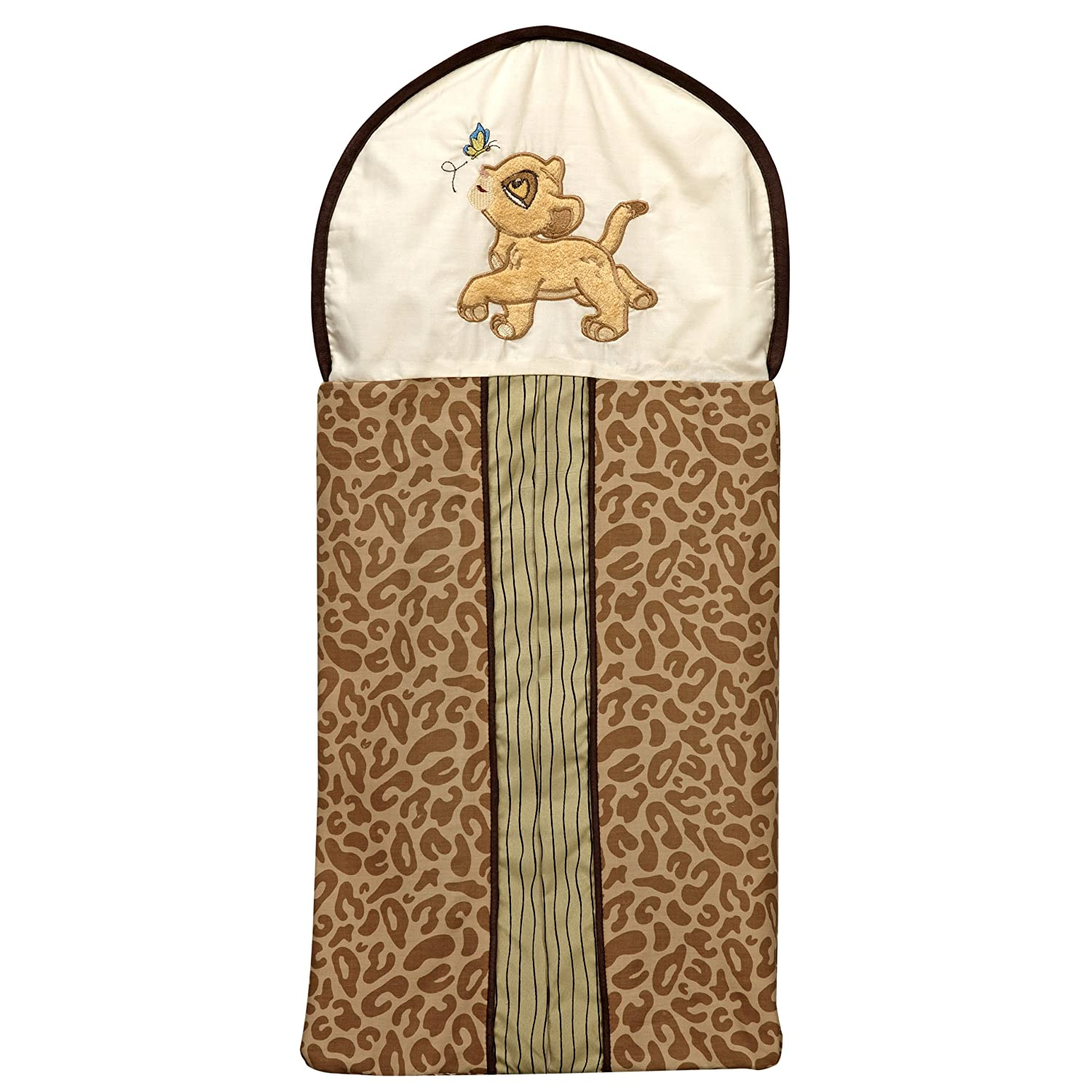 Disney Lion King Simbas Wild Adventure Appliqued Diaper Stacker Sage Tan Brown Ivory