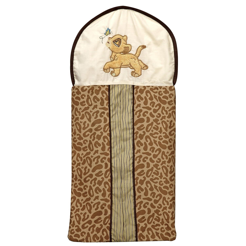 Disney Lion King Simba's Wild Adventure Appliqued Diaper Stacker, Ivory, Brown, Sage, Tan Crown Crafts Inc 6804015