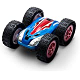 "Cyclone Remote Control Car for Kids & Adults – Flipping 360 Stunt Car w/ Extra Battery & USB Charging Cable | Super-Fast Speed Racer Stunt Vehicle Featuring ""Cyclone Mode"""