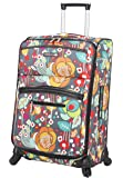Lily Bloom Luggage Large Expandable Design Pattern Suitcase With Spinner Wheels For Woman