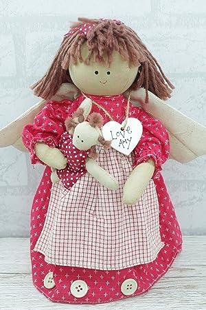 Personalised Guardian Angel Door Stop Stay Doll Red 30cm Nursery Kids  Bedroom FD0797A/C