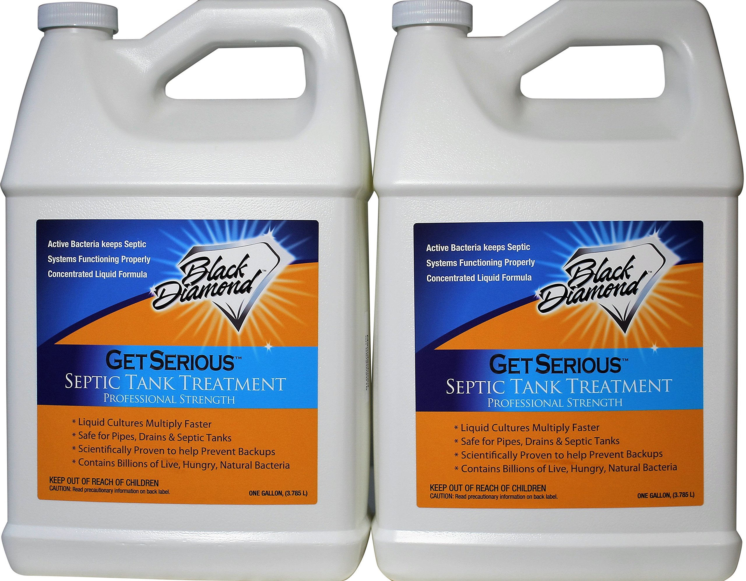 Black Diamond Stoneworks GET SERIOUS Septic Tank Treatment Liquid Natural Enzymes for Residential, Commercial, Industrial, RV's System. (2, Gallon) by Black Diamond Stoneworks