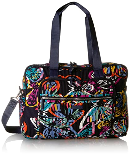 Vera Bradley Iconic Deluxe Weekender Travel Bag, Signature Cotton,  Butterfly Flutter, butterfly flutter 98560f2814