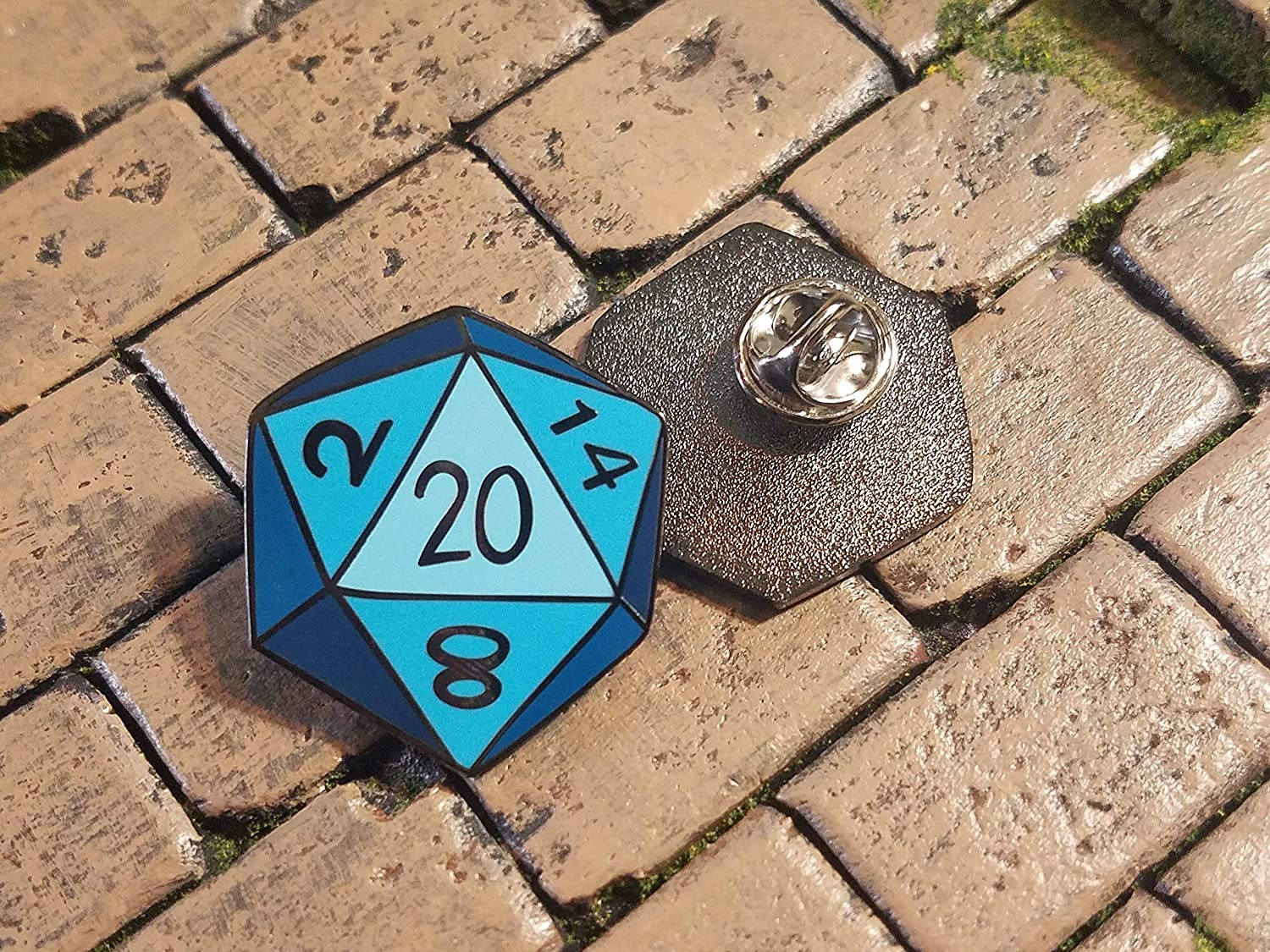 Enamel Lapel Pin Dungeons and Dragons d20 critical hit