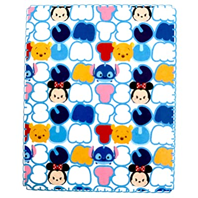 Disney Tsum Tsum Super Soft Travel Blanket 40 in X 50 in Pastels: Home & Kitchen