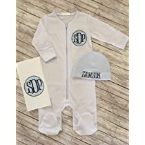 Personalized FootiePersonalized Burp ClothPersonalized Baby BibPersonalized Baby ItemMonogram SleeperPersonalized Baby Sleeper