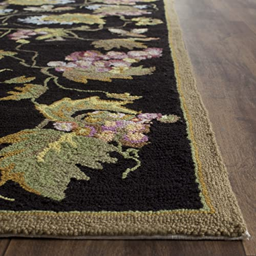 Safavieh Easy to Care Collection EZC731A Hand-Hooked Black and Multi Area Rug 3 x 5