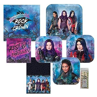 Amscan Disney Descendants 3 Party Bundle, 16 Guests: Toys & Games