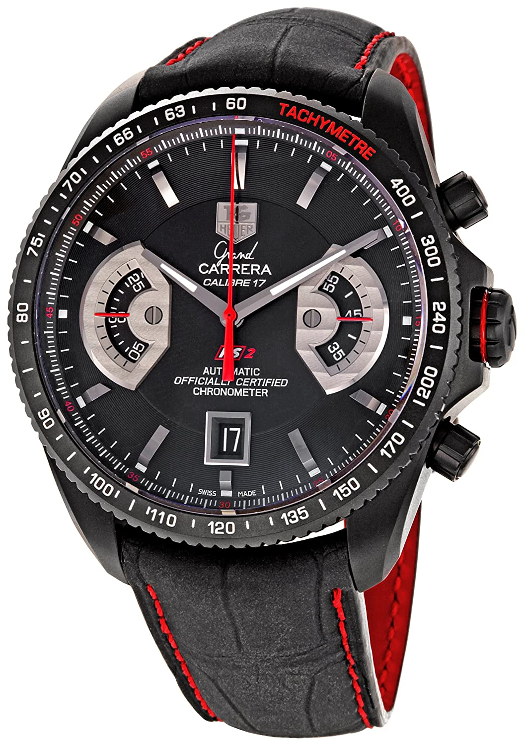 a7ab76215a5 Amazon.com: TAG Heuer Men's CAV518B.FC6237 Grand Carrera Automatic  Chronograph Watch: Tag Heuer: Watches