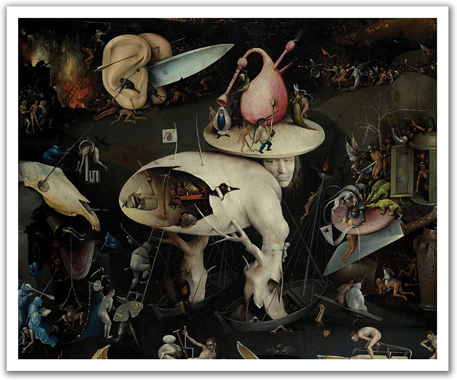 JP London POS2288 uStrip Bosch Peel and Stick Wall Decal Sticker Mural The Garden of Earthly Delights Painting, 24-Inch by 19.75-Inch