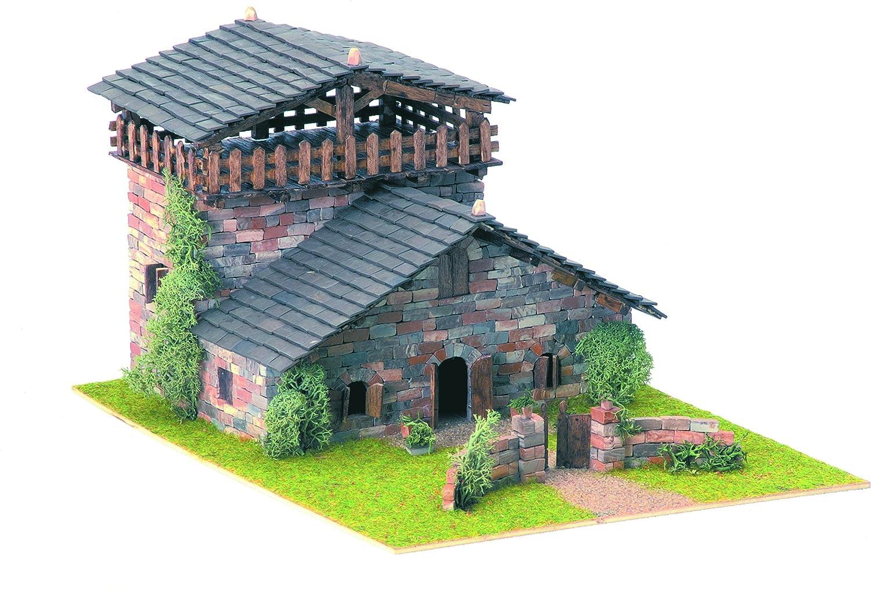 Casa In Pietra Nel Modello In Miniatura.