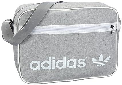 adidas Originals AC FT AIRLINE X34015, Unisex Erwachsene Schultertaschen, Grau (MEDGREHEAWH), 38x12x28 cm (B x H x T)