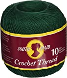 Coats Crochet South Maid Crochet, Cotton Thread Size 10, Forest Green