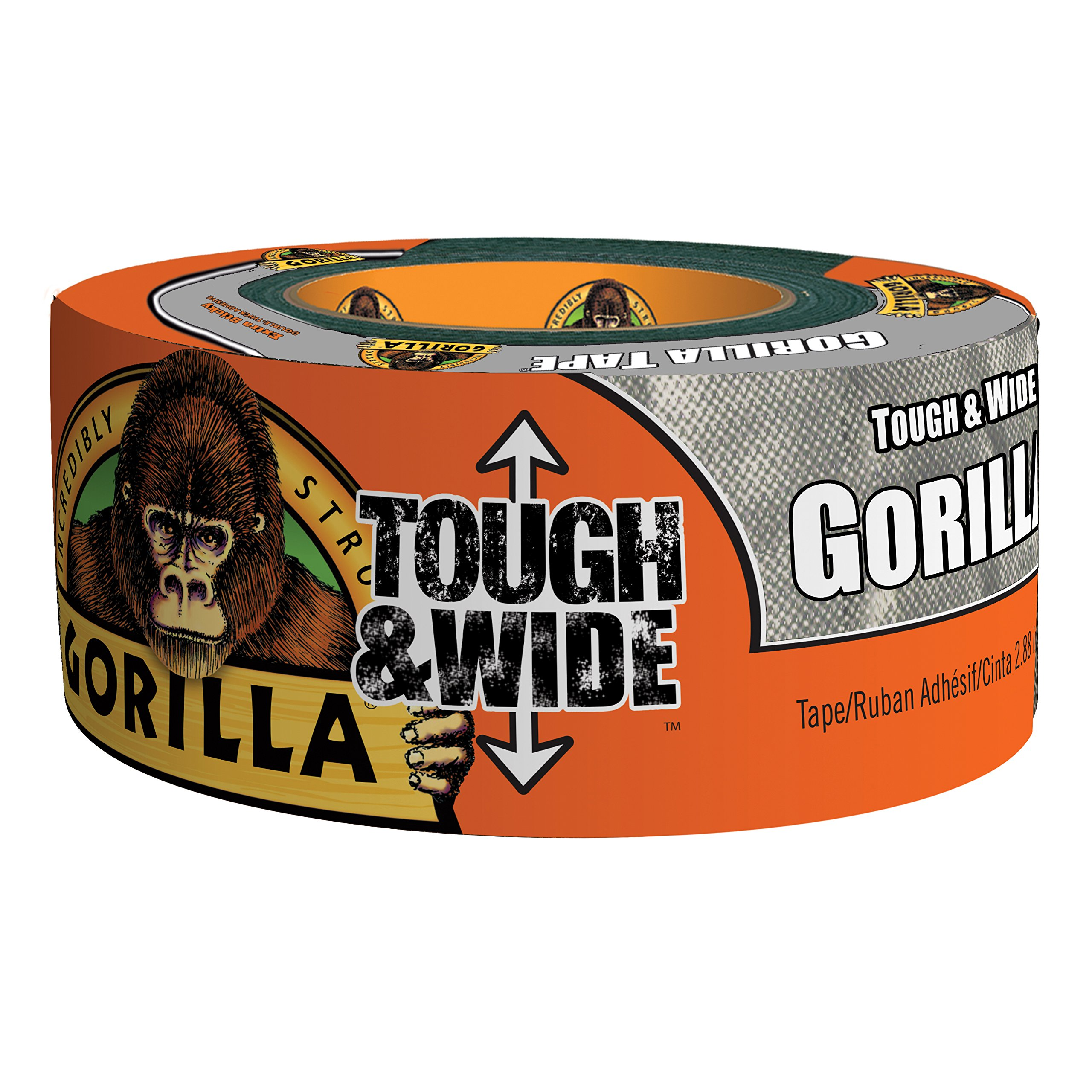Gorilla 6073502DF Tough & Wide Duct Tape, 4 - Pack, Silver by Gorilla
