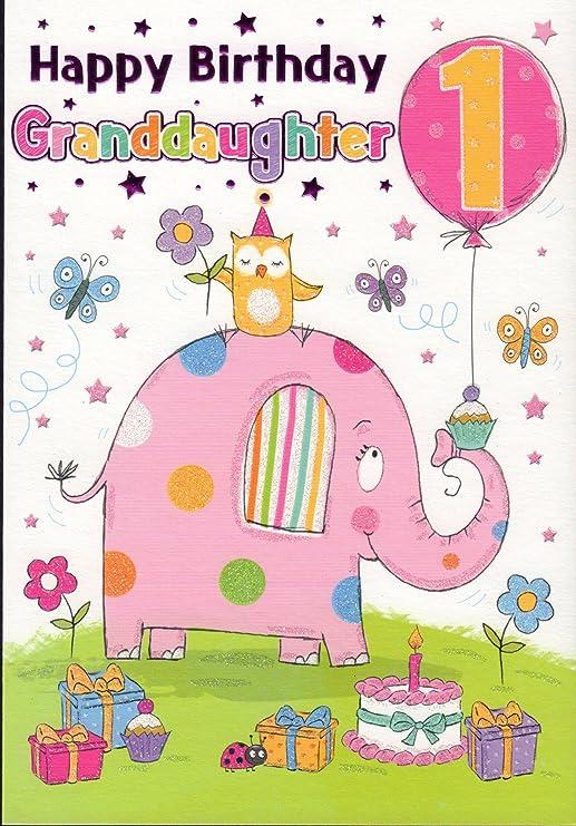 Tarjeta de cumpleaños - Feliz cumpleaños nieta 1: Amazon ...