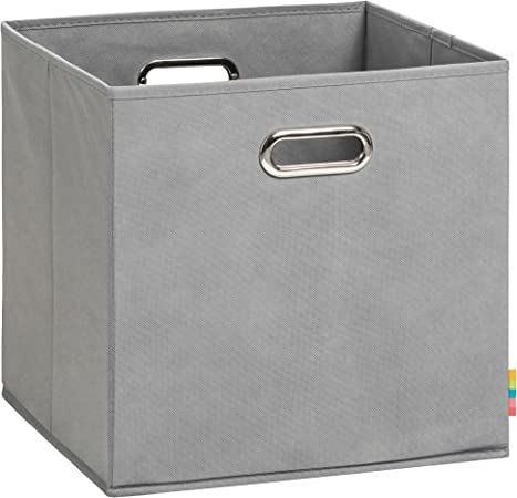 Schmetsdorf H S Aufbewahrungsbox Lea Faltbox 33x33x33 Cm Grau Amazon De Kuche Haushalt