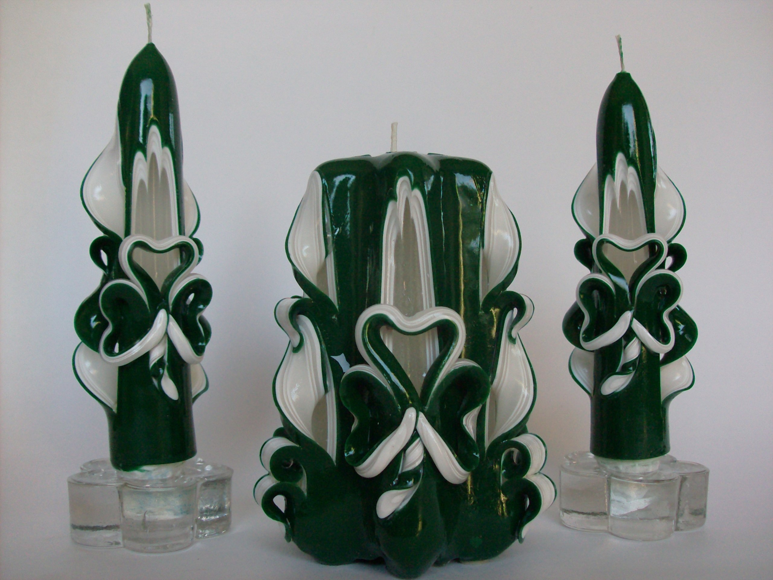 Zee Candles St. Patrick's Day Shamrock Candle Set (Emerald Green)