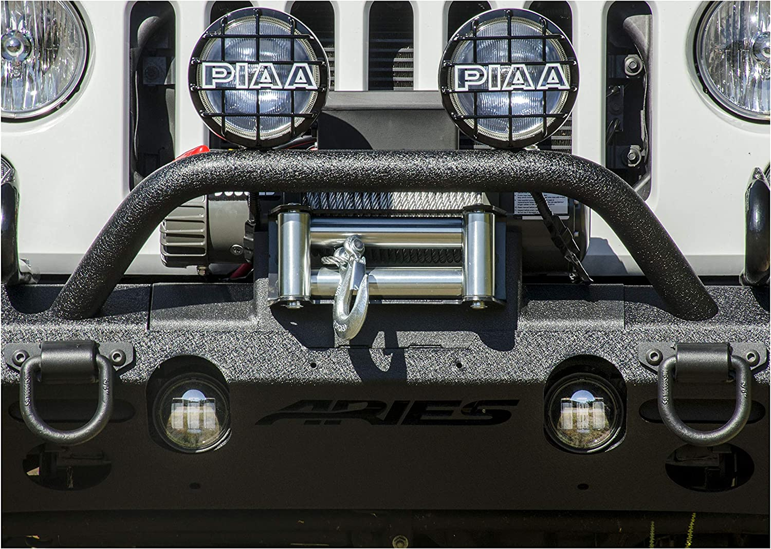 Aries 2072100 Winch Adapter Plate with Fairlead Mount