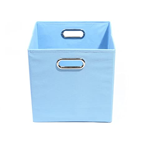 Amazon.com : Modern Littles Sky Folding Storage Bin, Solid Blue : Nursery  Storage Baskets : Baby