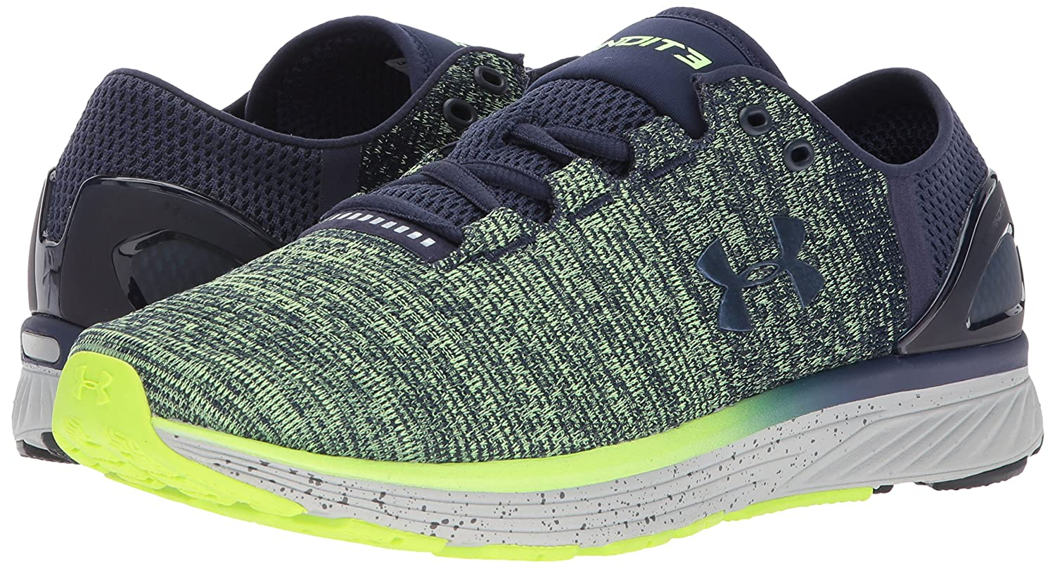 Under Armour Women's Charged Bandit 3 Running Shoe B01N685UZ4 14 M US|Quirky Lime (752)/Midnight Navy