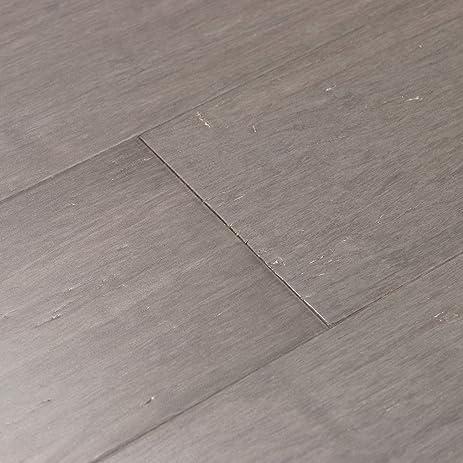 Cali Bamboo   Solid Wide Click Bamboo Flooring, Vintage Moonlight Gray    Sample