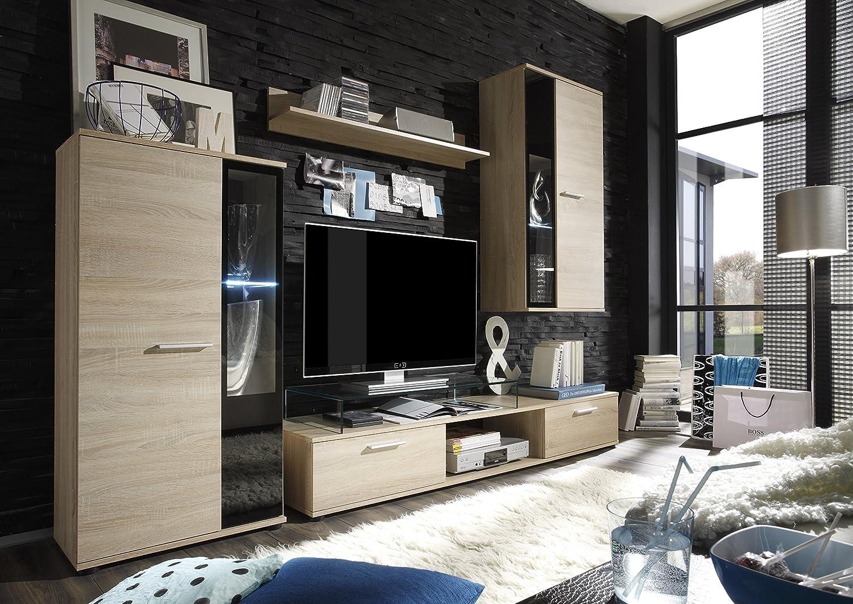 trendteam Wohnzimmer Anbauwand Wohnwand Salsa, 241 x 180 x 40 cm in ...