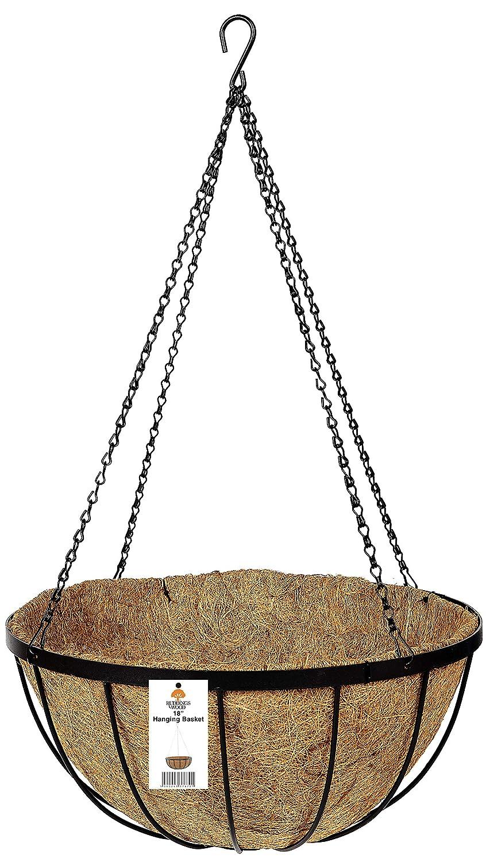 "18/"" diameter Metal Hanging Basket /& Coco Liner 45cm Plant Pot Container"
