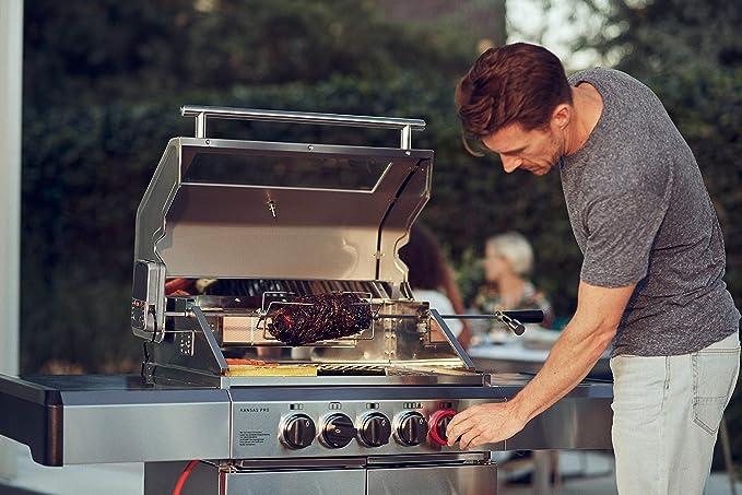 Enders BBQ Parrilla de gas Kansas Pro 3 Sik Turbo, sistema ...