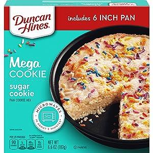 Duncan Hines Mega Cookie Sugar Pan Cookie Mix, 6.6 OZ