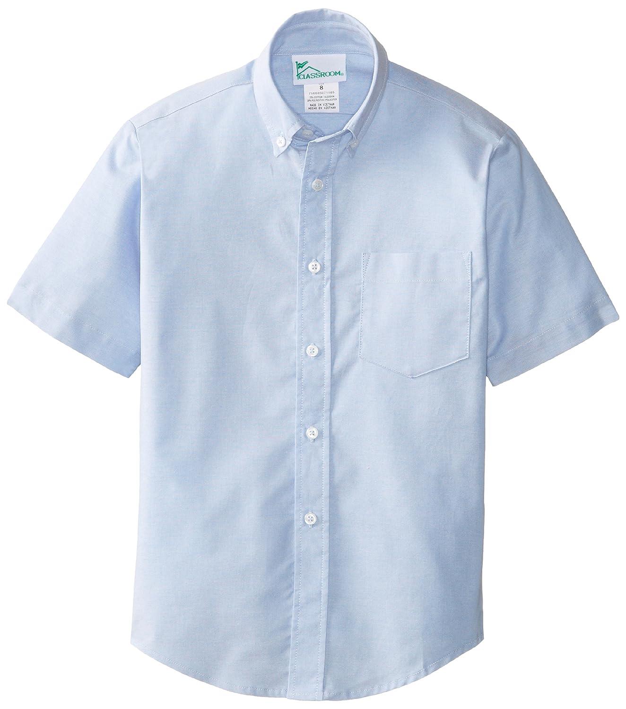 8 57602-LTB Light Blue CLASSROOM Big Boys Short Sleeve Oxford Shirt