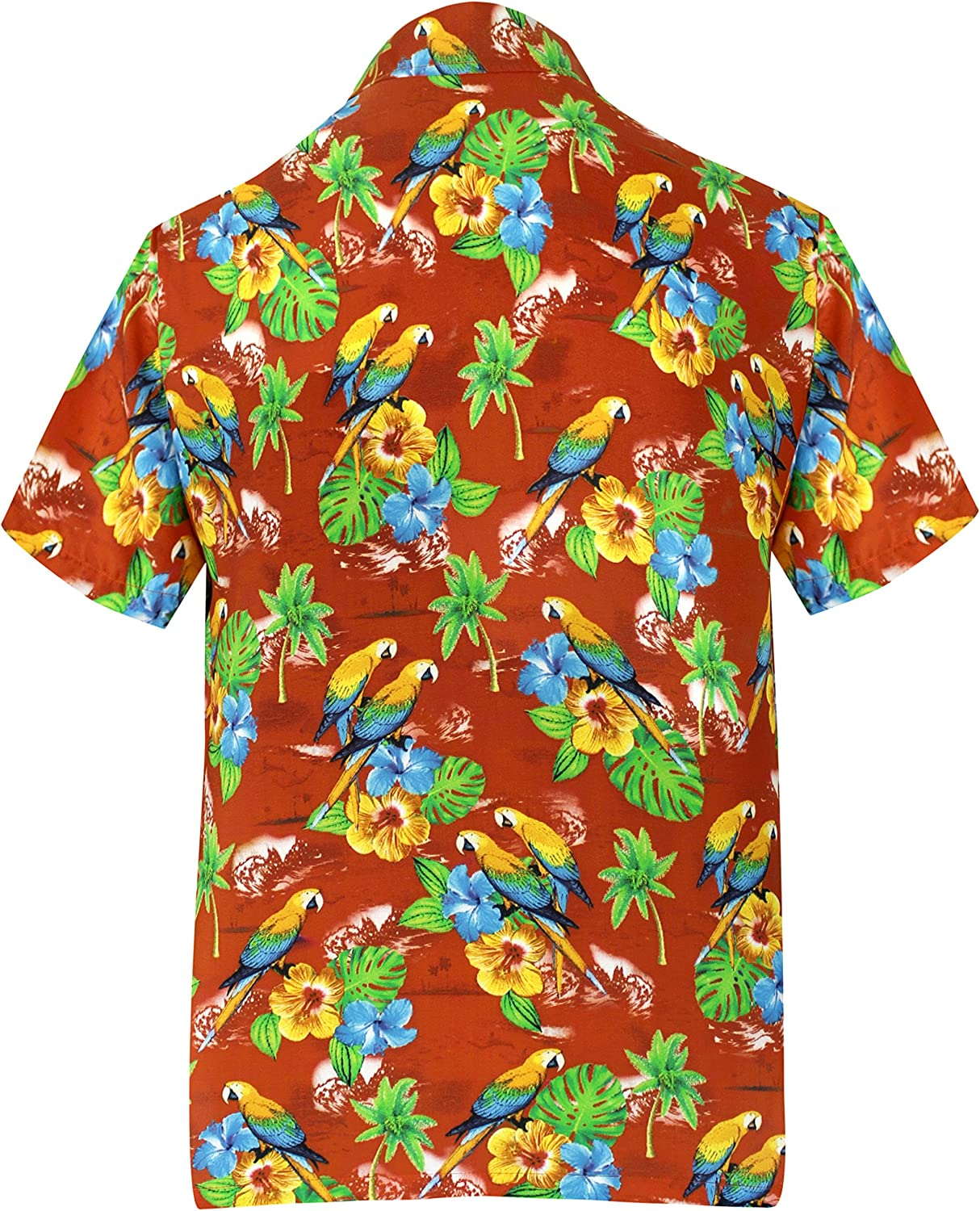 LA LEELA Mens Regular Fit Hawaiian Shirt Beach Aloha Swim Shirt for Men Printed